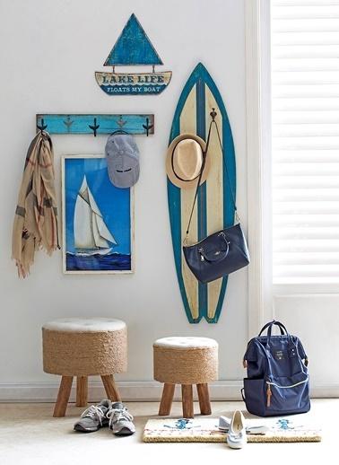 Warm Design Yelkenli Tekne Tablosu Mavi
